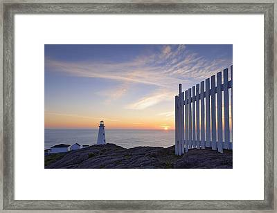 Cape Spear Lighthouse At Sunrise, Cape Framed Print by Yves Marcoux