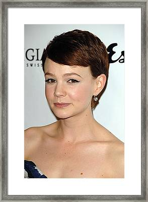 Carey Mulligan At Arrivals For An Framed Print by Everett