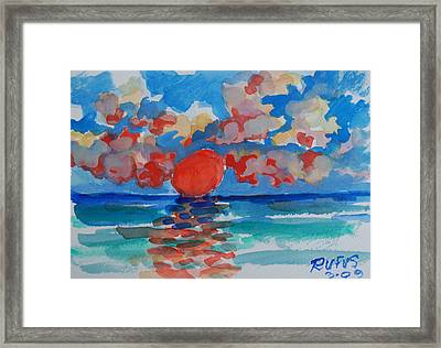 Caribe Sunset Framed Print