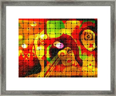 Framed Print featuring the digital art Carnival Freinds by Rc Rcd