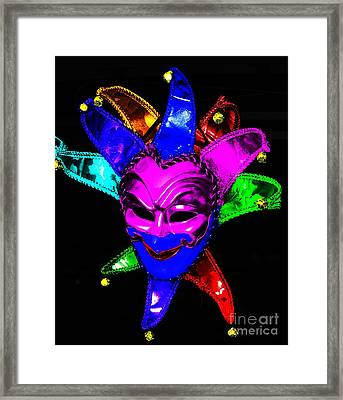 Framed Print featuring the digital art Carnival Mask by Blair Stuart