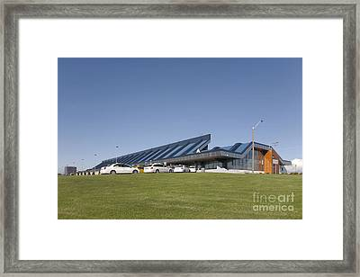 Cars Lining Up For Pickup At The Airport Framed Print