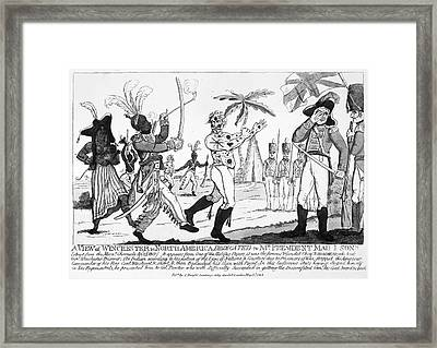 Cartoon: War Of 1812 Framed Print by Granger