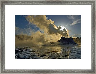 Castle Geyser  Framed Print by Gordon Ripley