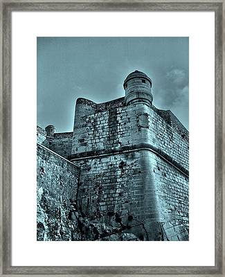 Castle Of Peniscola - Spain Framed Print by Juergen Weiss