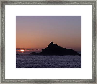 Framed Print featuring the photograph Castle Rock Sunset by Betty Depee