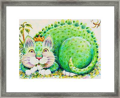 Catasaurus Rex Framed Print by Dee Davis