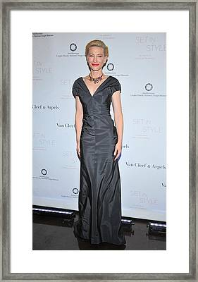 Cate Blanchett Wearing A Balenciaga Framed Print