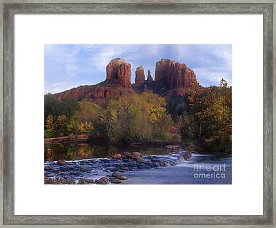 Cathedral Rock Framed Print by Darleen Stry