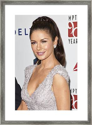 Catherine Zeta-jones Wearing Van Cleef Framed Print by Everett