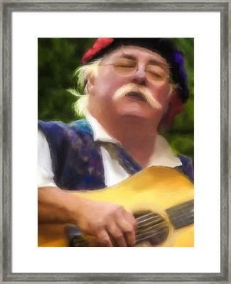 Celtic Folk Singer Framed Print by Jill Balsam