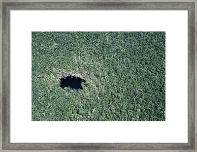 Cenote Cave Framed Print