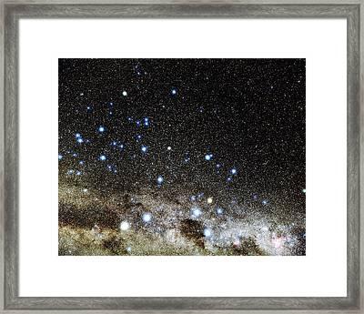 Centaurus And Crux Constellations Framed Print by Eckhard Slawik