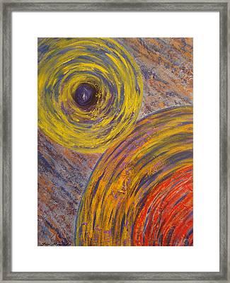 Centrifugal Whirls Framed Print