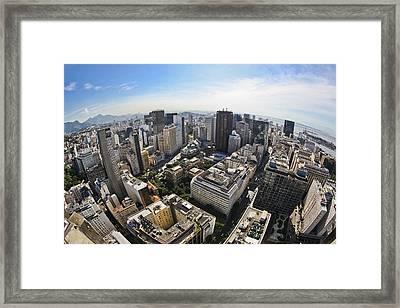 Centro Do Rio De Janeiro - Rio De Janeiro Downtown Framed Print by Ruy Barbosa Pinto