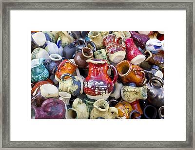 Ceramic  Jugs And Cups  Framed Print by Aleksandr Volkov