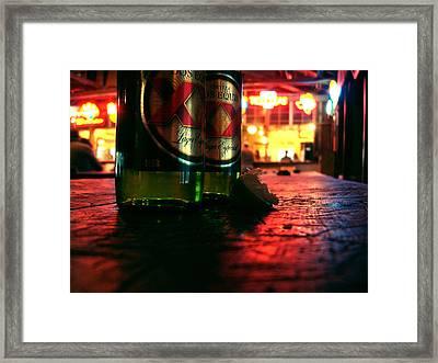 Cervezas Framed Print