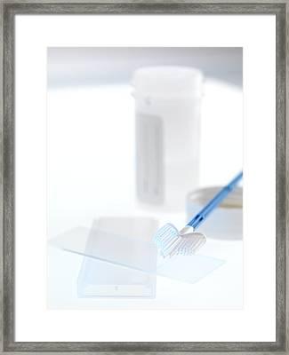 Cervical Smear Test Equipment Framed Print