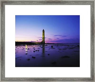 Chaine Memorial Tower, Larne Harbour Framed Print by The Irish Image Collection