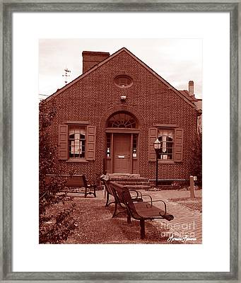 Chamber Of Commerce Elkton Md Framed Print by Lorraine Louwerse