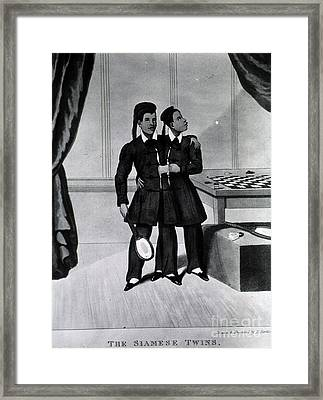 Chang And Eng Bunker, The Original Framed Print by Science Source