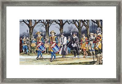Charles I's Last Walk Framed Print by Ron Embleton