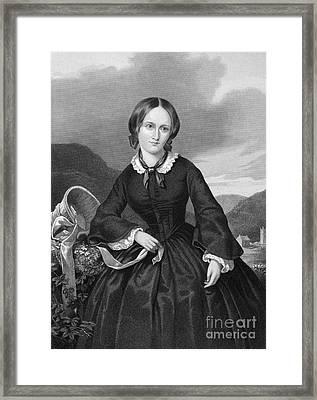 Charlotte Bront� Framed Print