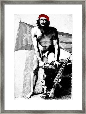 Che Guevara Nude Framed Print by Karine Percheron-Daniels