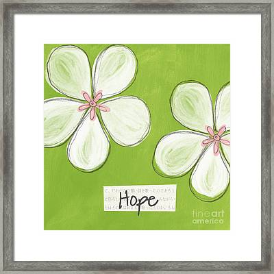 Cherry Blossom Hope Framed Print by Linda Woods