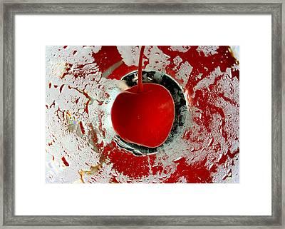 Cherry Martini Framed Print by April Reppucci