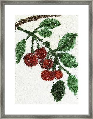 Cherry Framed Print by Natalya A