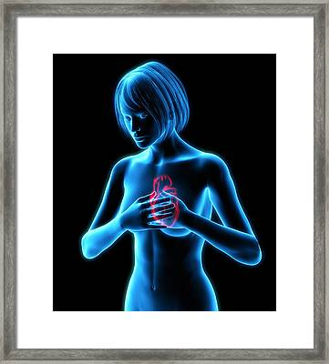 Chest Pains Framed Print by Roger Harris