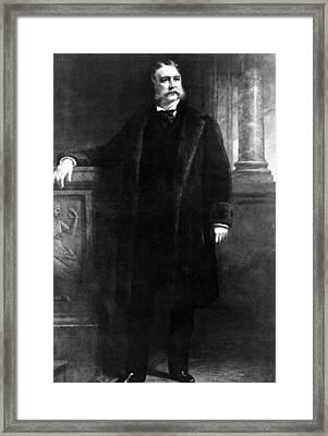Chester Arthur, 21st President Framed Print by Everett