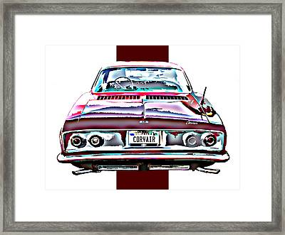 Chevy Corvair Rear Study Framed Print by Samuel Sheats