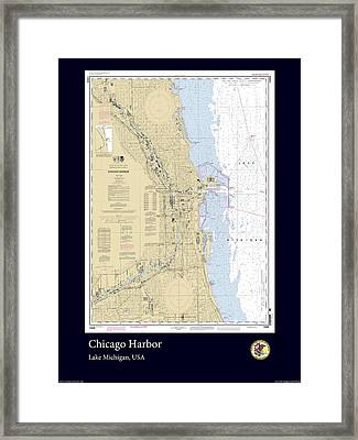 Chicago Harbor Framed Print by Adelaide Images