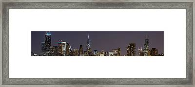 Chicago Lights Framed Print by Twenty Two North Photography