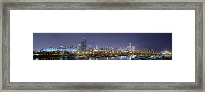 Chicago Skyline From Burnham Harbor Framed Print