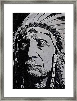 Chief Red Cloud Framed Print by Jim Ross