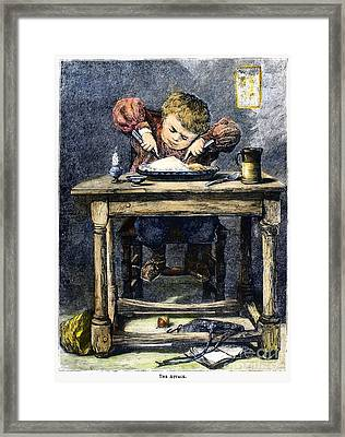 Child Eating, 1875 Framed Print