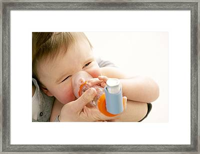 Childhood Asthma Framed Print by Ruth Jenkinson