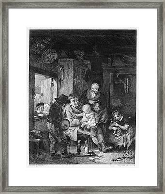 Children Playing Framed Print by Granger