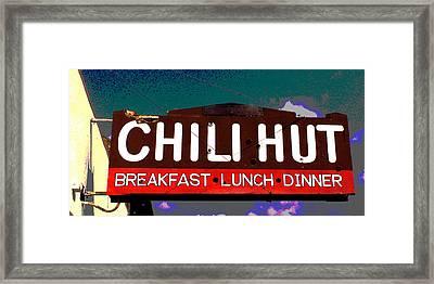 Chili Hut Framed Print by Ron Regalado