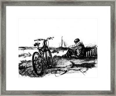 Chillin Framed Print by Kathy Etoll-Throckmorton