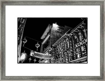 Chinatown At Night Framed Print by Tanya Harrison