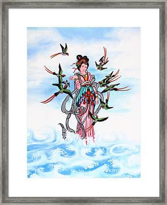 Chinese Painting  Framed Print by Phalakon Jaisangat