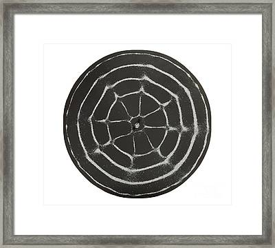 Chladni Oscillations On Metal Plate Framed Print