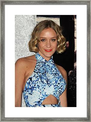 Chloe Sevigny At Arrivals For Big Love Framed Print