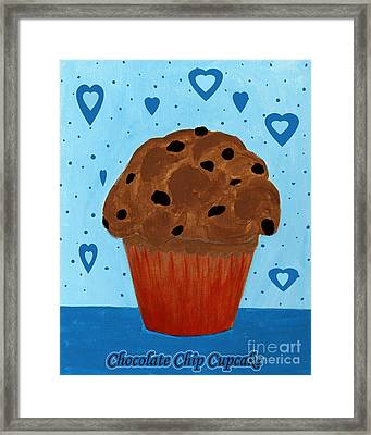 Chocolate Chip Cupcake Framed Print by Barbara Griffin