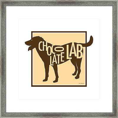 Chocolate Lab Framed Print by Geoff Strehlow