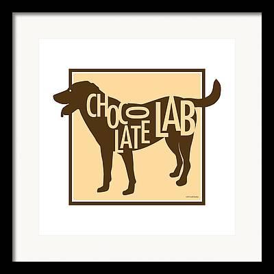 Labrador Digital Art Framed Prints